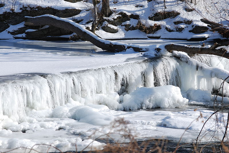 Cascate di Frozen Wappinger Creek - Usa