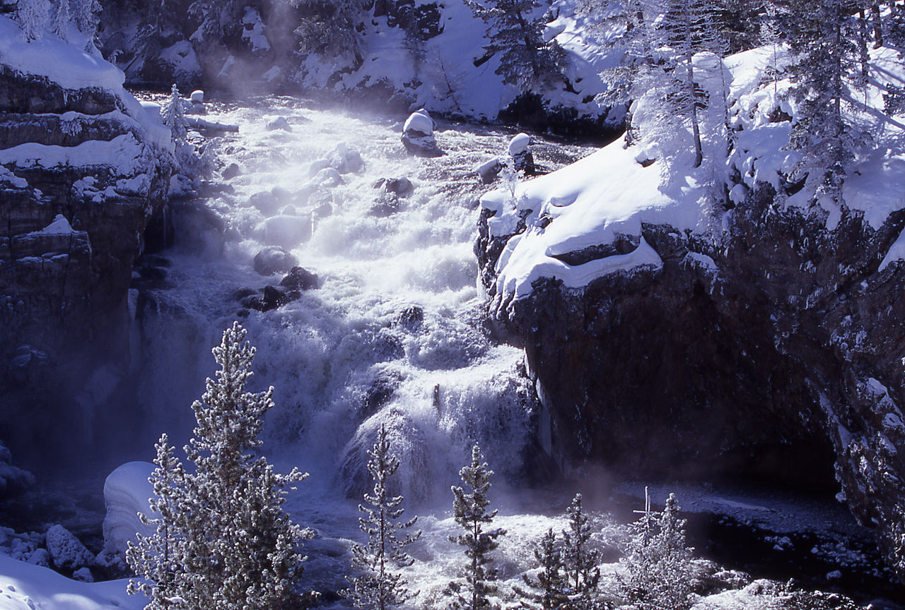 Firehole falls nel Wyoming - USA