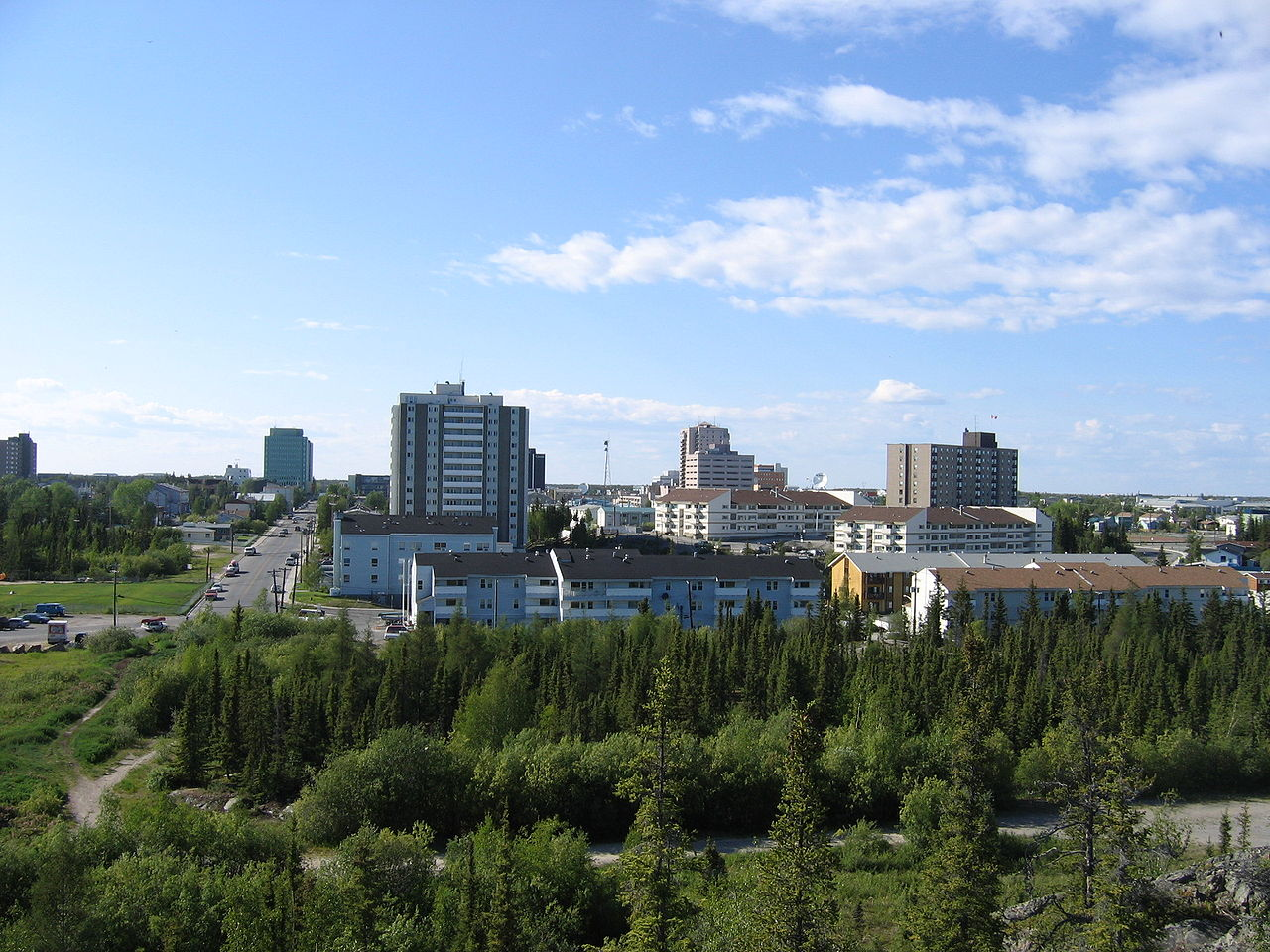 Yellowknife in Northwest Territories - Canada